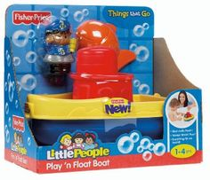 Amazon.com: Fisher-Price Little People Play 'n Float Bath Boat: Toys & Games