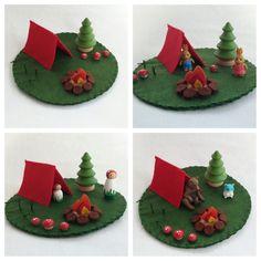 Camping Play Mat Mini wool felt pretend by MyBigWorld2015 on Etsy