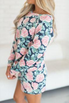 Pajama Set - Through Thick & Thin Blue Floral