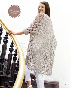 "diy_crafts- Crochet jacket, free pattern ""Crochet jacket — Crochet by Yana"" Crochet Coat, Crochet Jacket, Crochet Cardigan, Crochet Clothes, Knit Dress, Long Cardigan, Knit Cardigan Pattern, Crochet Shawls And Wraps, Crochet Stitches Patterns"