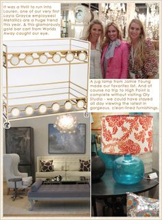 I Love that table lamp! | Layla Grayce goes to High Point Market! Spring 2012