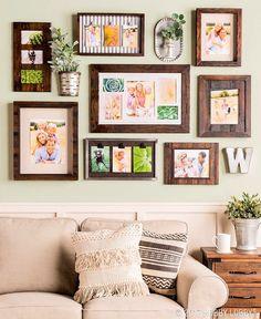 Farmhouse Frames, Farmhouse Decor, Rustic Decor, Diy House Projects, Wall  Ideas,