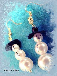 Tutorial for easy snowman earrings