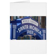 Santa Monica Venice Beach California Beach Holiday Card - holiday card diy personalize design template cyo cards idea