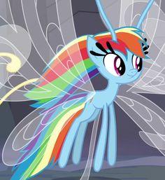 my little pony. Rainbow Dash as a breezie!