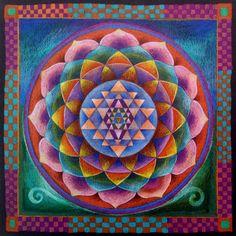 Sri Yantra Mandala, Home Office Decorating, Harmony Art Decor, Holistic Art Decoration, Healing Energy Mandala Painting Lotus Mandala, Mandala Print, Mandala Drawing, Mandala Painting, Flower Mandala, Sri Yantra, Prayer Circle, Harmony Art, Sacred Geometry Art
