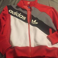 Adidas track jacket Cute men's adidas track jacket. Super comfortable. When twice. Adidas Jackets & Coats