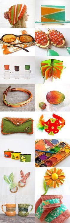 Orange Kiwi  by Ray and Kaila on Etsy--Pinned with TreasuryPin.com