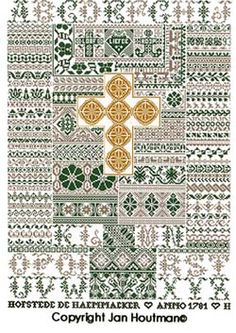Jan Houtman Embroidery Sampler, Embroidery Patterns, Cross Stitch Samplers, Modern Cross Stitch, Needlework, City Photo, Pure Products, Antiques, View Source