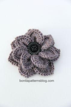 Double Layered Crocodile Stitch Flower :)
