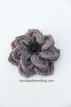 Double Layered Crocodile Stitch Flower :)