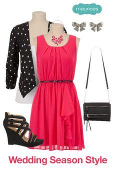 Wedding Season Style black jacket, pink dress