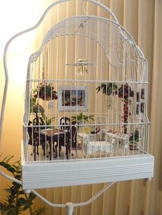 Patty's porch in a bird cage ~ My customer, Patty, sent me a message a., The bird cage is both a house for the birds and an ornamental tool. You can choose what you may want on the list of bird cage designs and get a great deal more particular images.