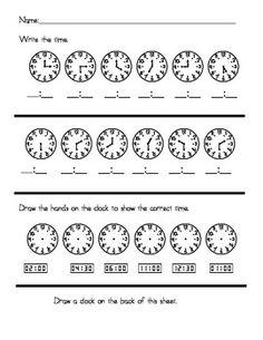 Telling Time Center/Homework - FREEBIE!