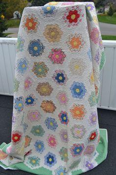 Jardín de flores tejido hexagonal flor tejido mano por swingkitten