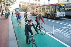 "Greening Cities with Better Bike Lanes ""SOLUTION: they are converting more driving lanes into bike lanes so indorse  less gas consumption and smog"""
