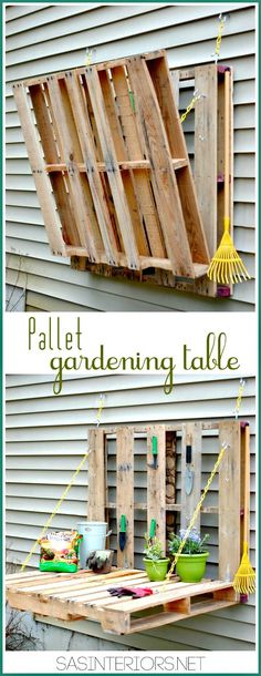 DIY Pallet Gardening Table - 50 Cool DIY Patio & Porch Decor Ideas - DIY & Crafts