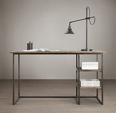 Fulton Desk | Restoration Hardware - this would be great for a kids desk