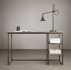 Fulton Desk - shelves RH