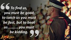 These 11 Indian Army Quotes will Definitely fill your heart with pride - Best Picture For salute foto For Your Taste You are looking for something, and it is going to tel - Indian Army Quotes, Military Quotes, Military Humor, Indian Army Slogan, Army Women Quotes, Air Force Quotes, Indian Army Special Forces, Special Forces Of India, Soldier Quotes