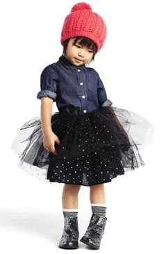 Joe Fresh Holiday, Tutu Skirt - I want this outfit for me Fashion Kids, Little Girl Fashion, Toddler Fashion, Look Fashion, Fashion Shoes, Fashion Dresses, Modelos Fashion, Little Fashionista, Kid Styles