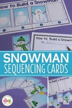 Check out this how to build a snowman activity and story starter. Kids will love this sequencing activity in your snowman theme snow theme or winter theme unit or lesson plans. Perfect for your winter literacy centers in preschool pe-k and kindergarten. Lesson Plans For Toddlers, Kindergarten Lesson Plans, Preschool Lessons, Snow Theme, Winter Theme, January Preschool Themes, Story Starter, Winter Activities For Kids, Winter Preschool Activities