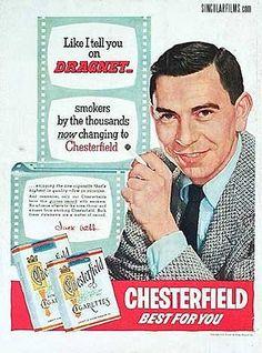 Jack Webb - cigarette ad
