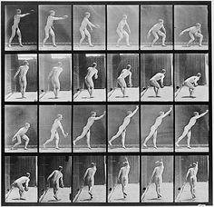 Eadweard Muybridge - Man Throwing a Discus time-lapse