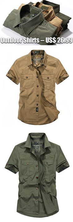 f046b7906 Outdoor Sport Breathable Multi Pockets Cargo Short Sleeve Dress Shirts for  Men is fashionable and cheap, come to NewChic to see more trendy Outdoor  Sport ...