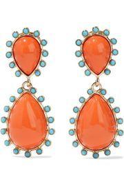 Gold-Tone Stone Clip Earrings | Kenneth Jay Lane