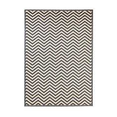 Our chevron stripe rug is loomed in a soft sisal weave of durable, non-fading, washable 100 percent mildew resistant polypropylene.