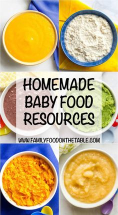 Homemade baby food resources -- tons of information to help you get ready, recipes to help you get started and some additional reading to learn more!