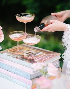 How to Host a Bridal Shower via Martha Stewart styled by Fashionable Hostess.com12 Bridal Shower Desserts, Party Desserts, Dessert Bars, Dessert Table, Fashionable Hostess, Wedding Dress Gallery, Martha Stewart Weddings, Holiday Themes, Champagne Flutes