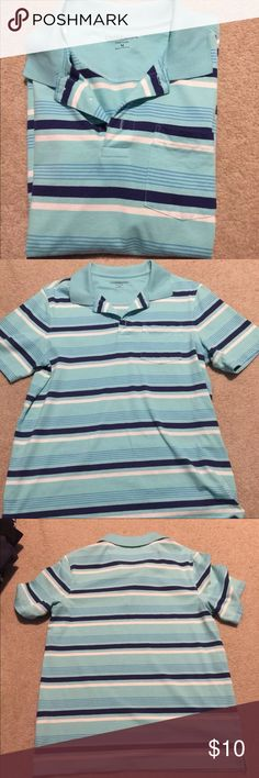 [Croft & Borrow] Blue Striped Polo Shirt Only worn twice. Very nice and comfortable top. Comes from a non smoking no pet Home croft & barrow Shirts Polos