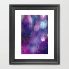 Purple scales Framed Art Print by Hannah Lancaster $36.00 www.society6.com