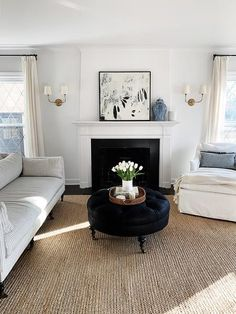 Home Decor For Small Spaces Warming up Our Living Room Danielle Moss.Home Decor For Small Spaces Warming up Our Living Room Danielle Moss Cute Home Decor, Home Decor Styles, Cheap Home Decor, Home Decor Accessories, Coffee Table Alternatives, Sofa Shop, Tufted Ottoman, Elegant Homes, White Furniture