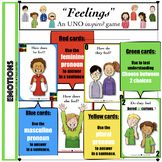 """This version requires students to answer HOW questions. An ❤️UNO-inspired game❤️ made for students who have difficulty identifying and expressing their feelings! Use these UNO-inspired cards to build """"emotion"""" vocabulary; to target proper Teacher Resources, Teacher Pay Teachers, Teaching Pronouns, Speech Therapy, Esl, Card Games, Middle School, Vocabulary, Education"""