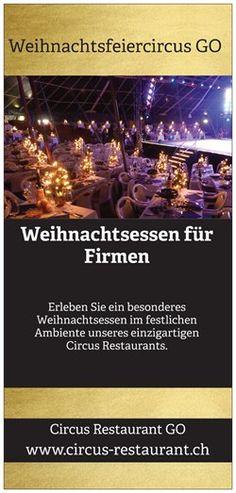 Weihnachtsessen für Frmen in Bern und Luzern ab Mitte November bis Weihnachten.