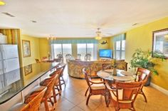 Open dining room with bar seating.   Ambassador Villas Condos for sale - North Myrtle Beach, SC  #ambassadorvillas http://www.myrtlebeachcondos.net/sales/buildings/ambassador-villas-condos.php