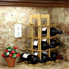 Oceanstar Design Bamboo (Green) 12 Bottle Tabletop Wine Rack; Natural- Available at Walmart