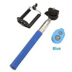 Selfie Stick +Clip Holder+Bluetooth Shutter Remote Controller for iPhone/Android Phone