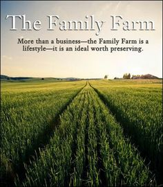 Farm family.....I want this saying on a hay field picture