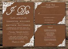 Printable Wedding Invitation Set  Invitation  by WeddingShopTM, $30.00