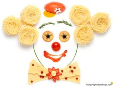 Lighten up your day with this cool 'Food Clown' as your wallpaper.
