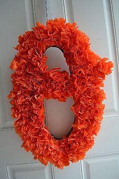 Baseball time!!!! Baltimore Oriole's Baseball Wreath, Orange, Large Size. Good idea for next year