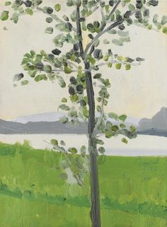 Alex Katz   Tree. Oil on panel.1968, 40.6 by 30.5cm.