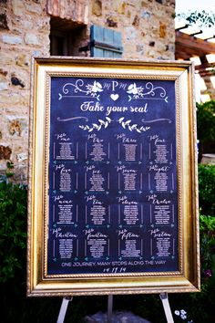Chalkboard Wedding Table Assignments Board Wedding by LCoOnEtsy