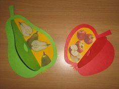 Jablko a hruška - překlápění a koláž