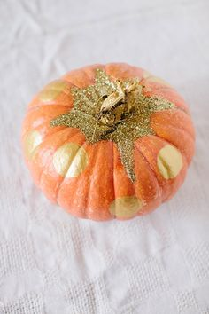 DIY Gold Glittery Pumpkin