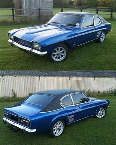 My lovely Dad had one of these! Classic Cars British, Ford Classic Cars, British Car, Ford Rs, Car Ford, Ford Capri, Vintage Cars, Antique Cars, Mercury Capri